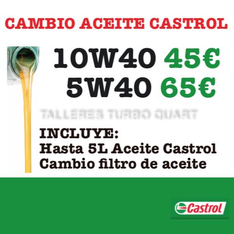 PRECIO CAMBIO ACEITE CASTROL